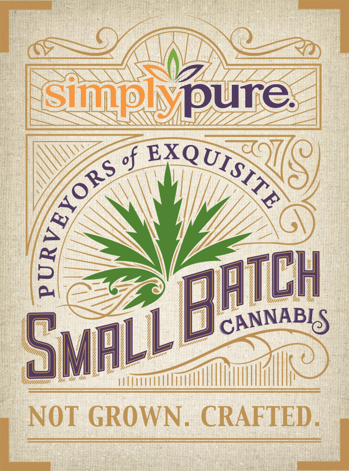 simply pure small batch crafted cannabis